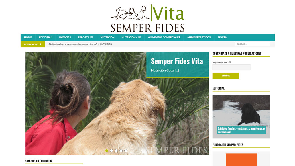 Semper Fides Vita - Nutrición natural/ética